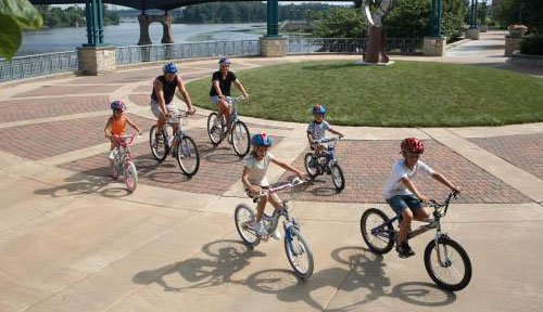 Ride the bike trails in the Quad Cities!