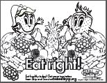 Eat right! produce coloring page