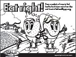 Eat right! farm coloring page
